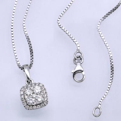 화이트 다이아몬드 목걸이